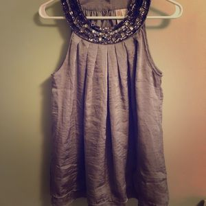 Beaded Champagne Tank Top
